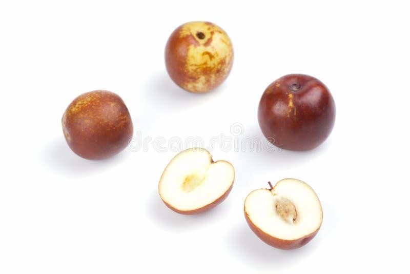 желтый цвет обезьяны jujube зеленого цвета плодоовощ яблока стоковое изображение rf