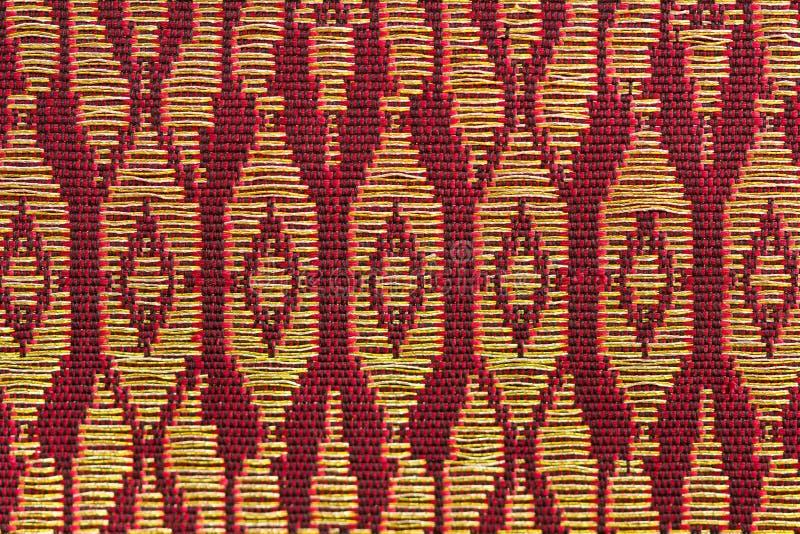 Желтый цвет Обруч-конструировал тайский шелк стоковая фотография rf