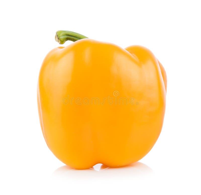 желтый цвет перца колокола предпосылки белый стоковое фото rf