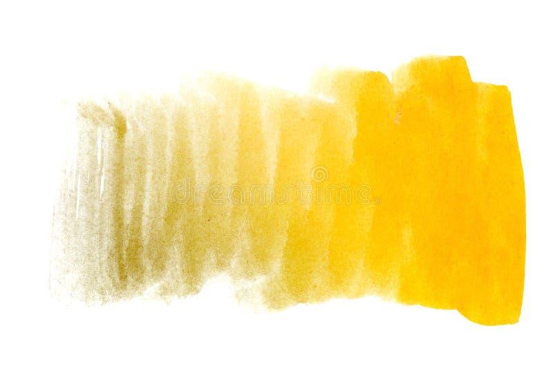 Желтый цвет предпосылки акварели иллюстрация вектора