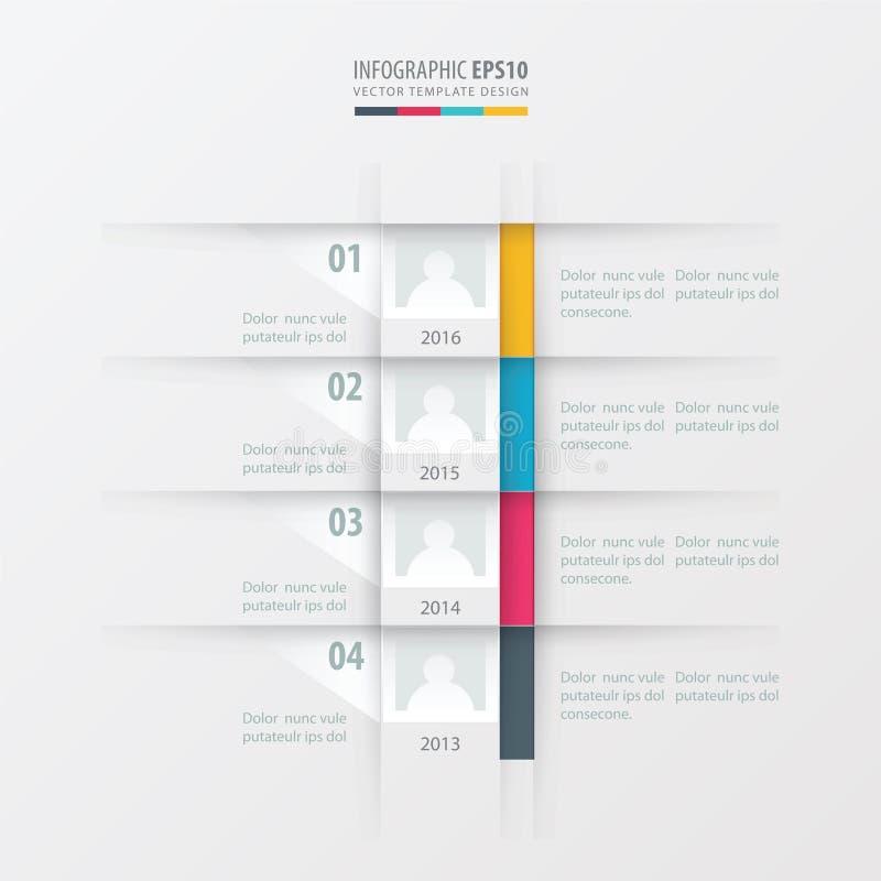 Желтый цвет шаблона дизайна отчете о временной последовательности по вектора, синь, розовый цвет бесплатная иллюстрация