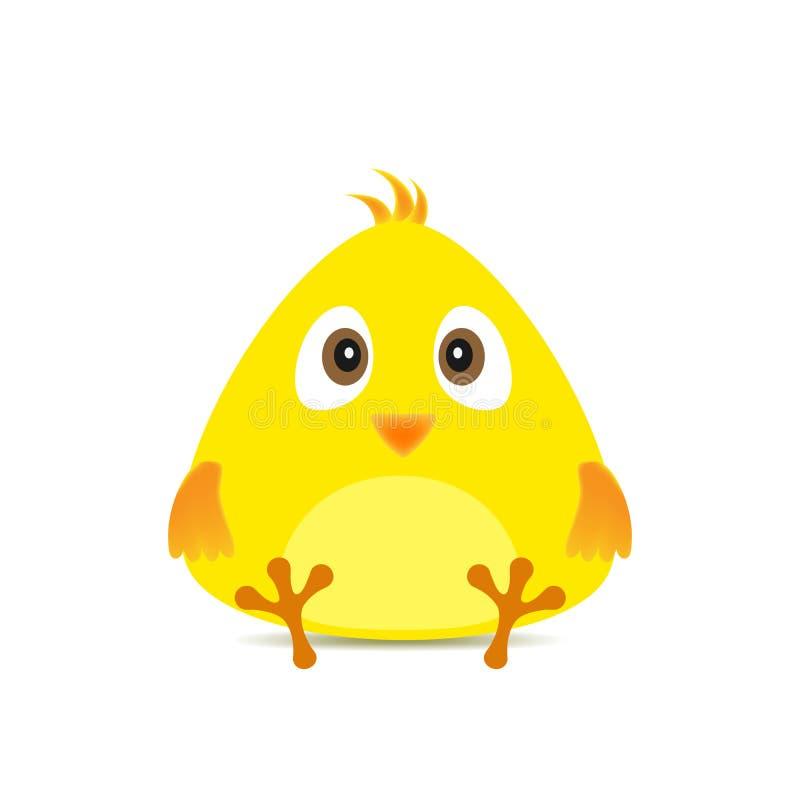 Желтый цыпленок пасхи - иллюстрация вектора иллюстрация вектора