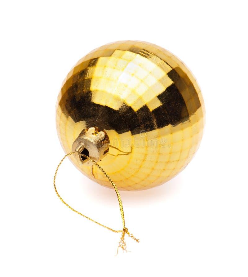 Желтый шарик рождества стоковая фотография rf