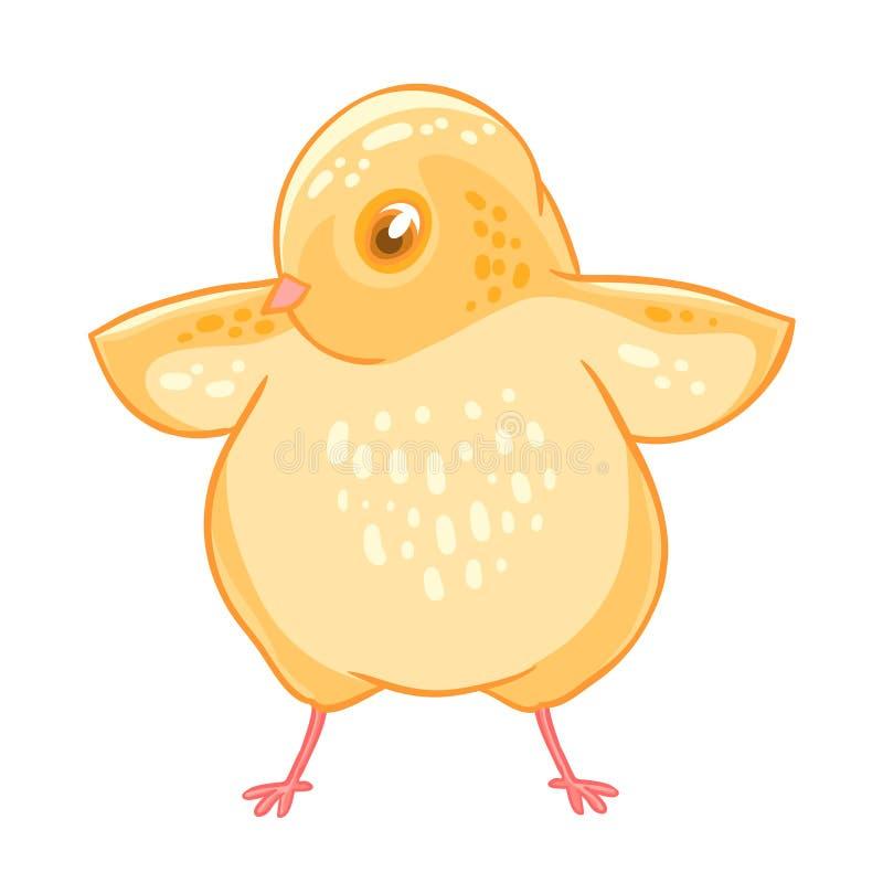 Желтым милым крыла поднятые cheeper бесплатная иллюстрация