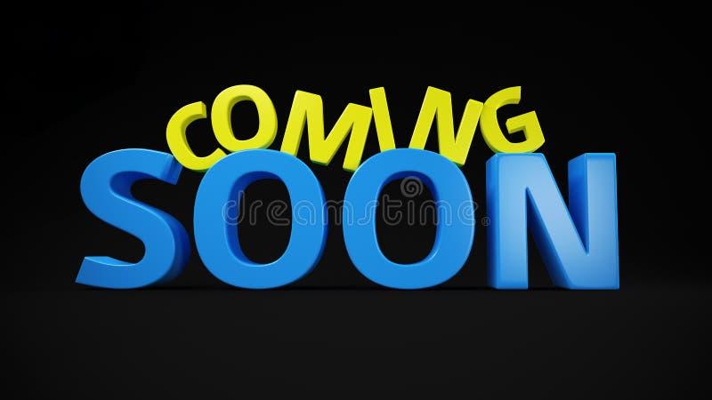 Желт-голубой приходить скоро иллюстрация штока