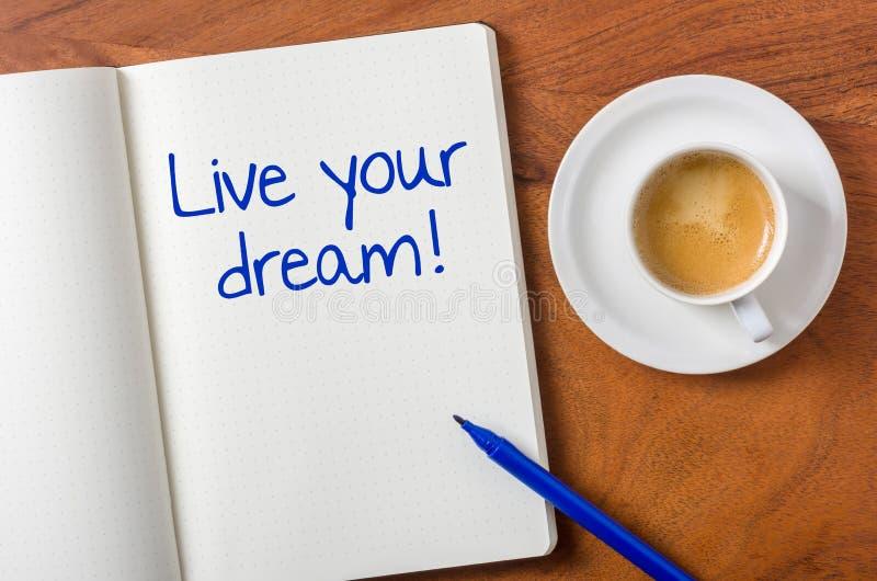 Живет ваша мечта стоковое изображение