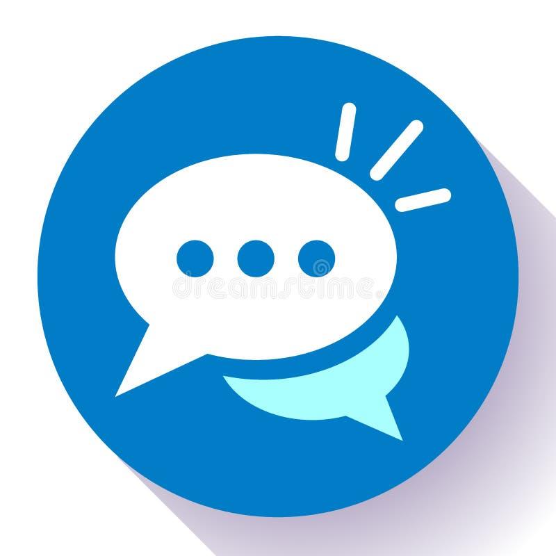 Живет значок болтовни с вектором облаков диалога Символ для вашего дизайна вебсайта, логотип пузыря речи, app, UI иллюстрация вектора