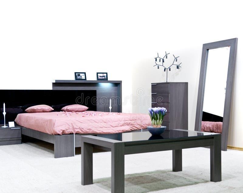 живое конструкции спальни нутряное самомоднейшее стоковое фото