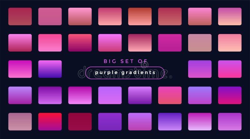 Живой набор пурпурных и розовых градиентов бесплатная иллюстрация