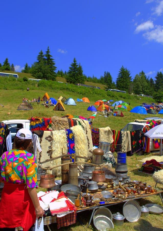 Живописная стойка гор Rhodope стоковые изображения rf