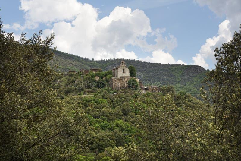 Живописное горное село в Франции стоковое изображение rf