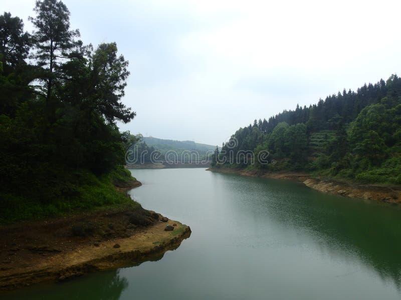 Живописное место Китая, Daolingou, озеро стоковые изображения rf