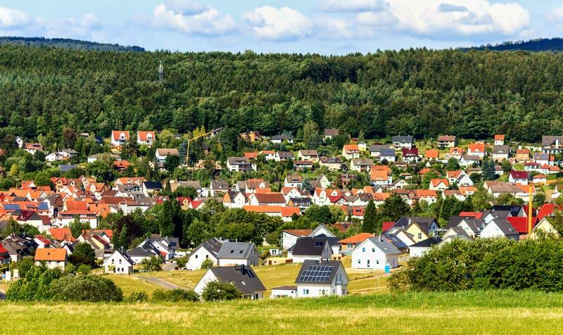 Живописный ландшафт около Касселя, Германии стоковые изображения rf