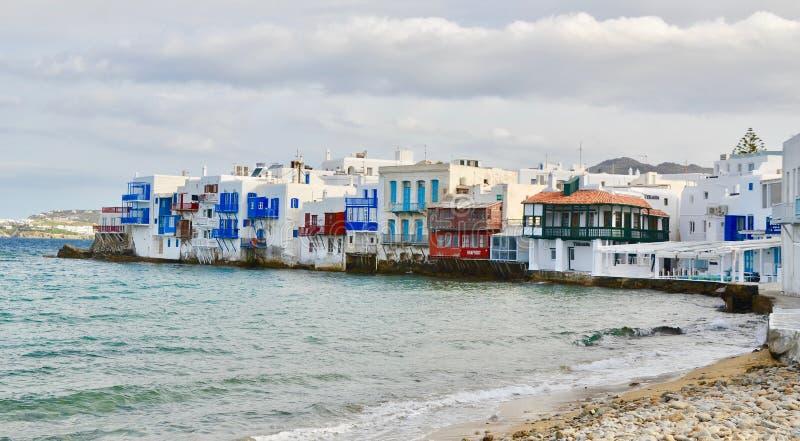 Живописный остров Mykonos, Греции стоковые изображения rf