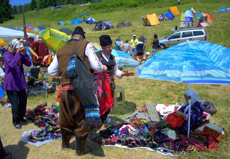 Живописный рынок гор Rhodope стоковая фотография rf