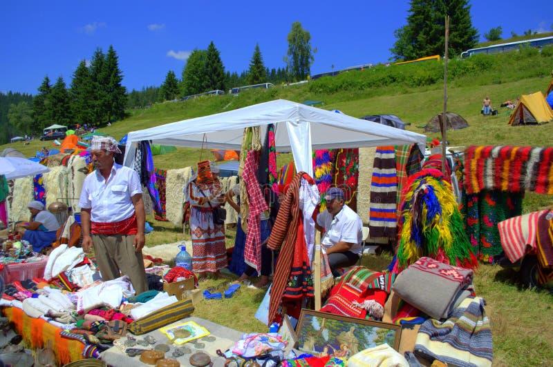 Живописный рынок гор Rhodope стоковые фото