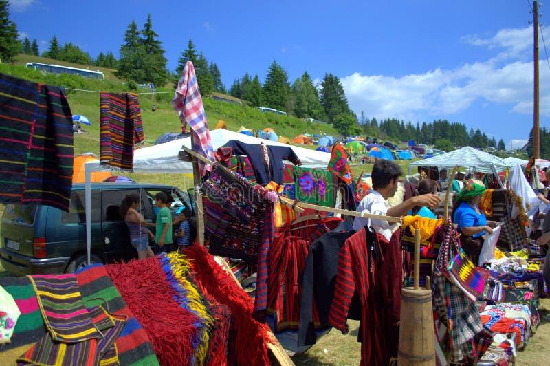 Живописный рынок гор Rhodope стоковые изображения
