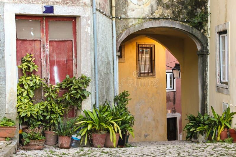Живописный угол в Sintra. Португалия стоковые фотографии rf