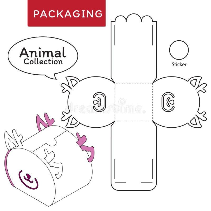 Животная иллюстрация вектора собрания коробки бесплатная иллюстрация