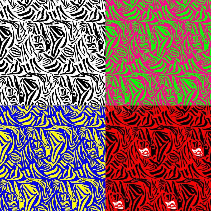 Животная картина зебры печати бесплатная иллюстрация