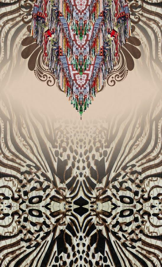 Животная печать красит печатание индустрии украшений стоковые изображения rf
