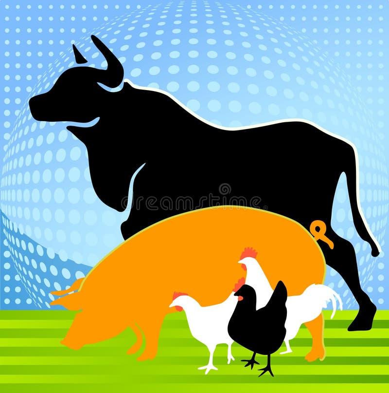 животная ферма иллюстрация вектора