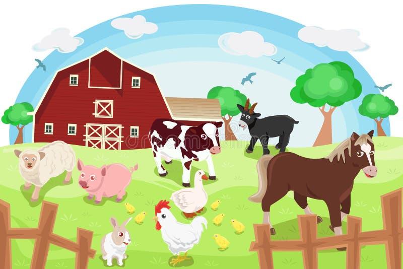 Животноводческие фермы иллюстрация вектора