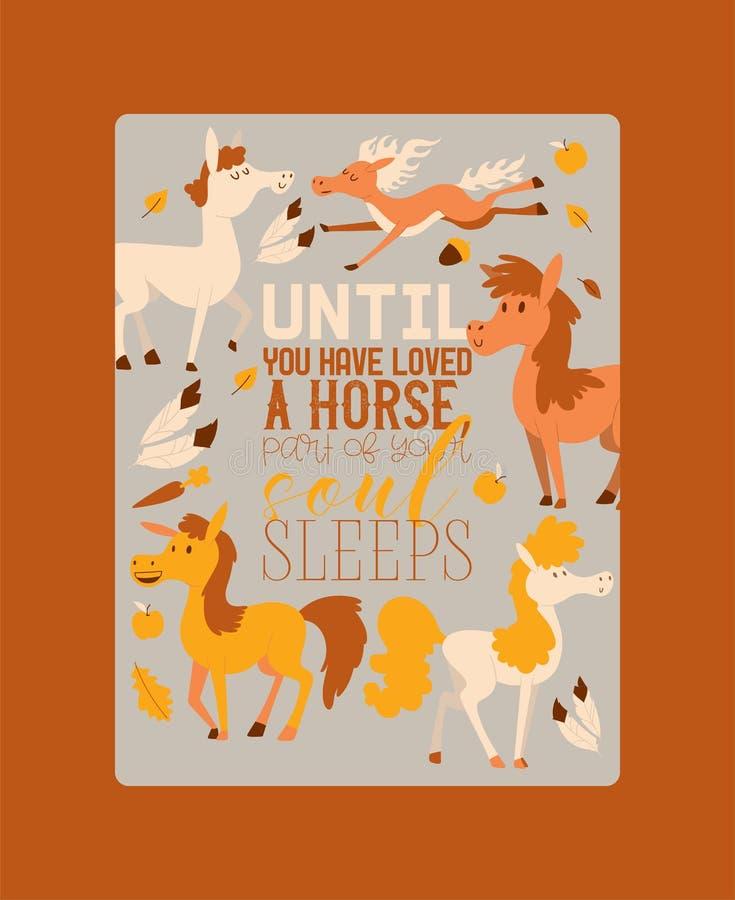 Животное вектора лошади horsy лошад-размножения или конноспортивного и horsey equine фона иллюстрации жеребца animalistic иллюстрация штока