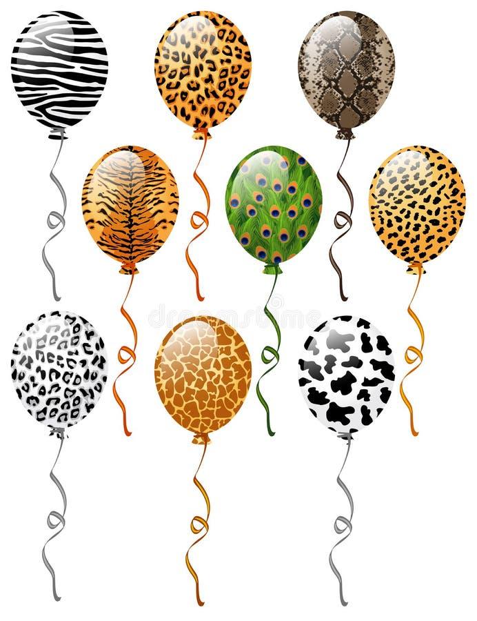 Животное делает по образцу воздушные шары иллюстрация вектора