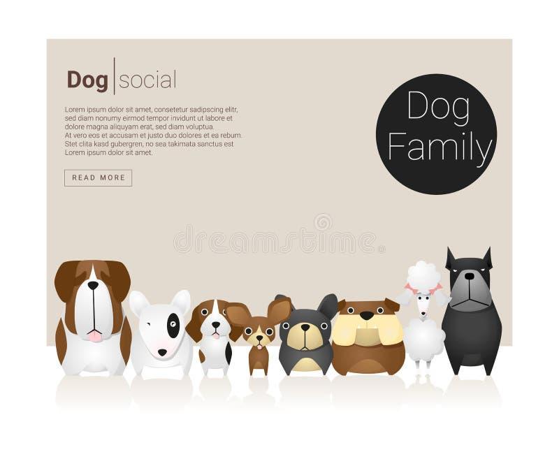 Животное знамя с собаками иллюстрация штока