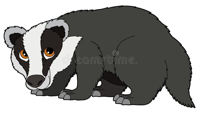 Животное шаржа - барсук - иллюстрация для детей бесплатная иллюстрация