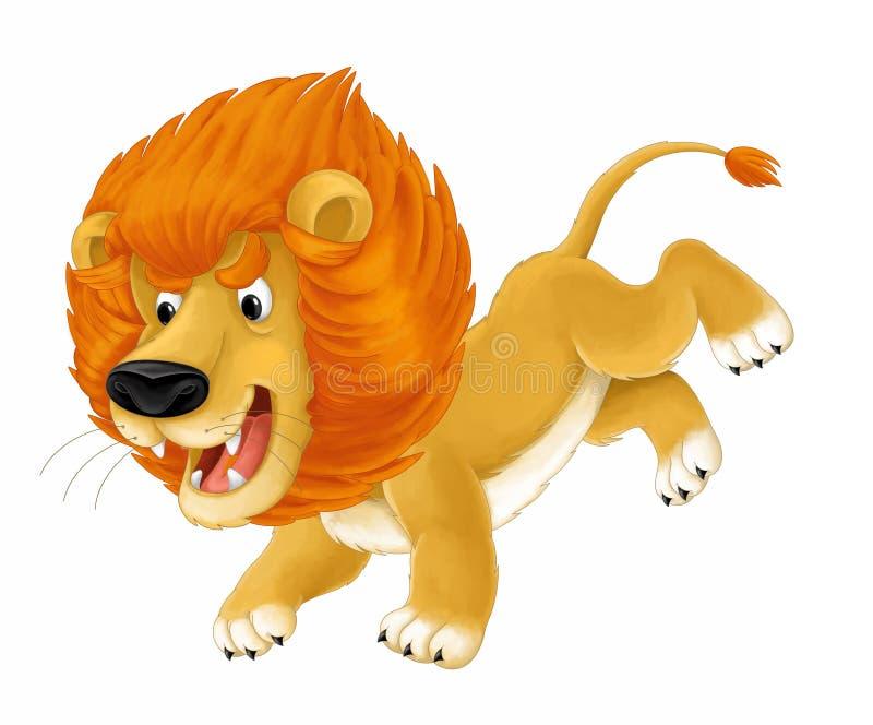 Животное шаржа - лев - карикатура иллюстрация штока