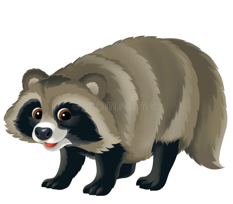 Животное шаржа - иллюстрация для детей иллюстрация вектора