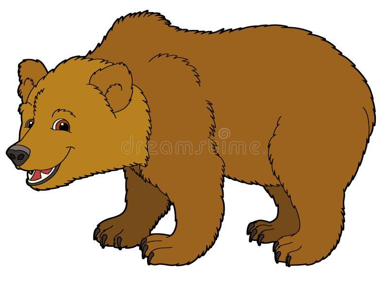 Животное шаржа - медведь - иллюстрация для детей иллюстрация штока
