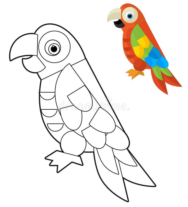 Животное шаржа - страница расцветки - иллюстрация для детей бесплатная иллюстрация