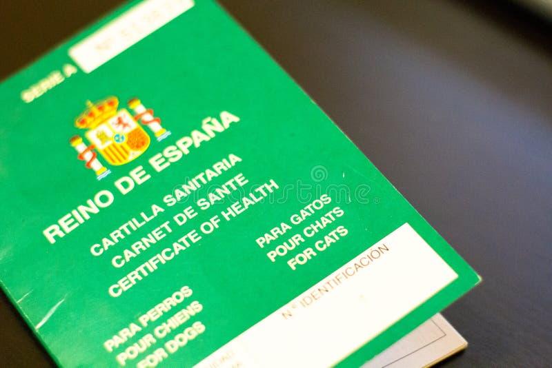 Животное sanitaria Cartilla стоковые изображения