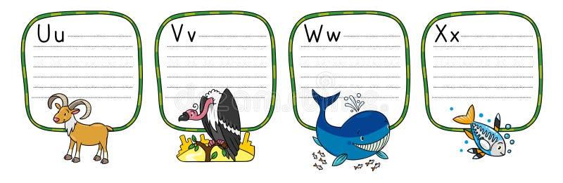Животные алфавит или ABC бесплатная иллюстрация