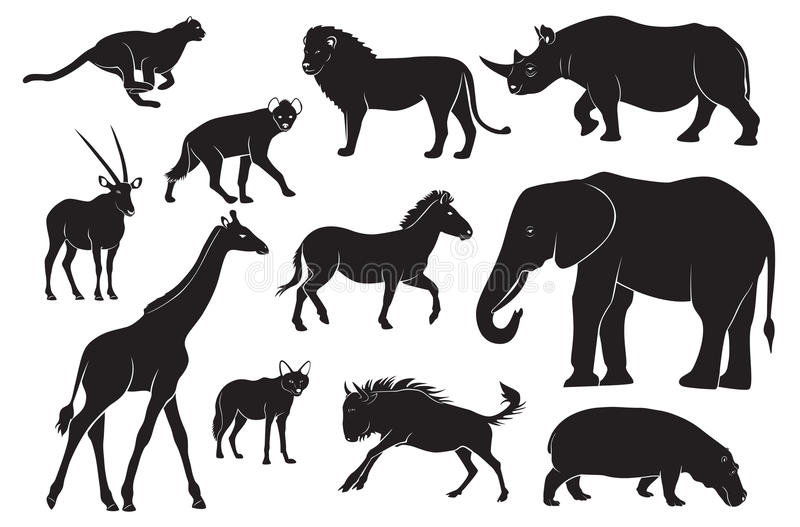 животные Африки иллюстрация штока