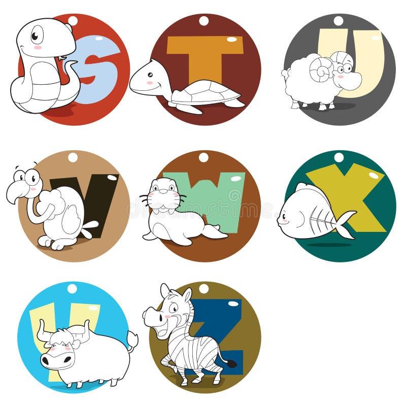 Животные алфавита иллюстрация вектора