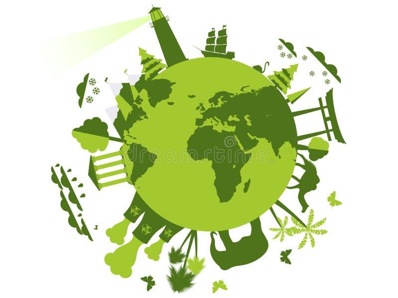 Животные и привлекательности на планете, окружающей среде бесплатная иллюстрация