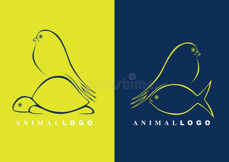 животные логосы иллюстрация штока