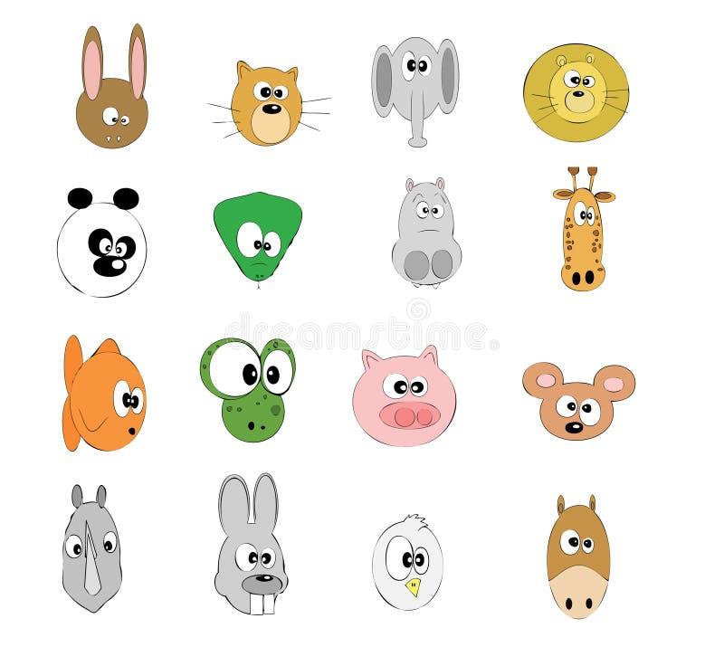 животные различные стоковое изображение rf