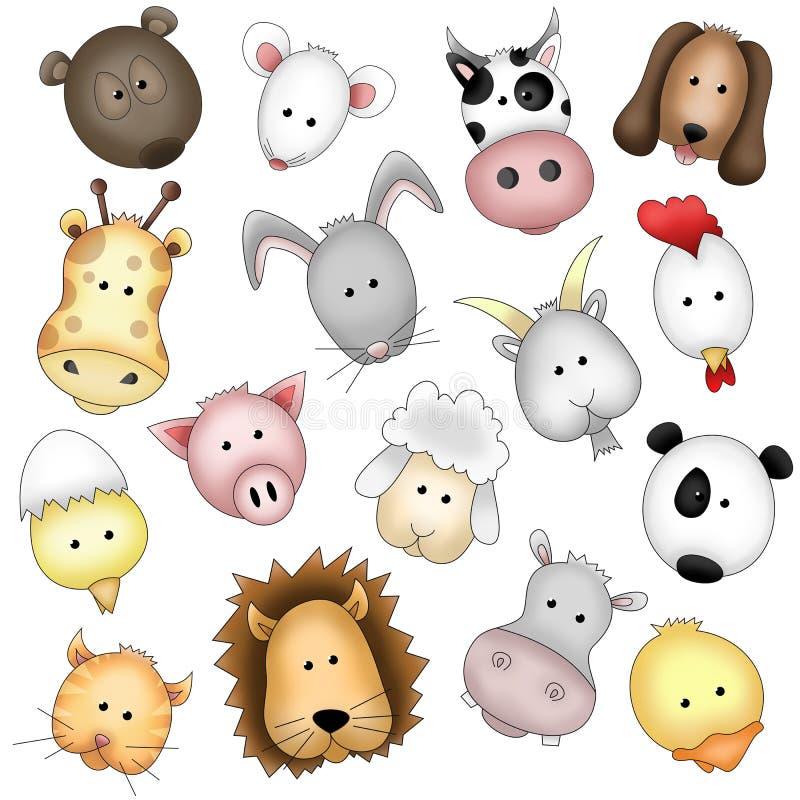 животные смешные иллюстрация вектора