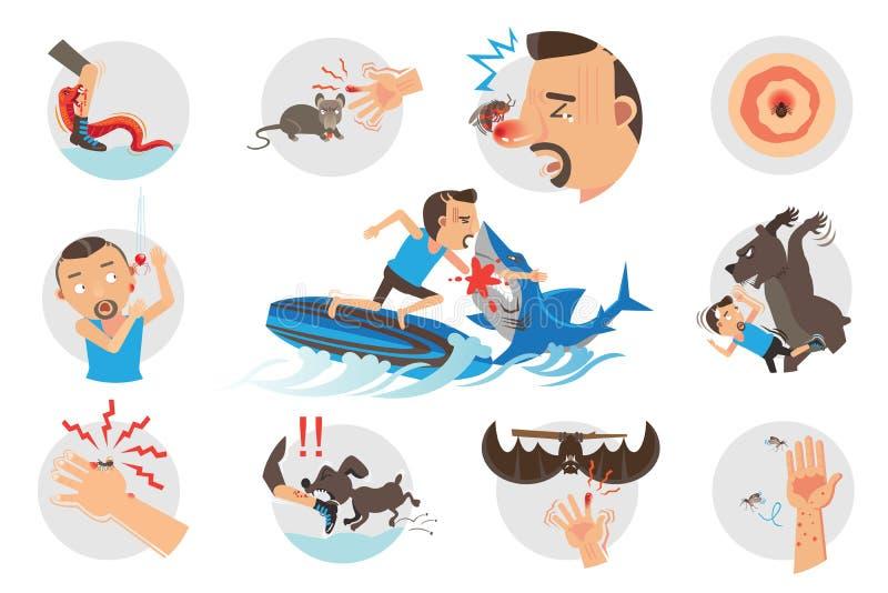 Животные укусы бесплатная иллюстрация