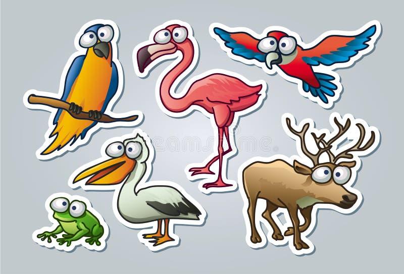Животные шаржа иллюстрация вектора