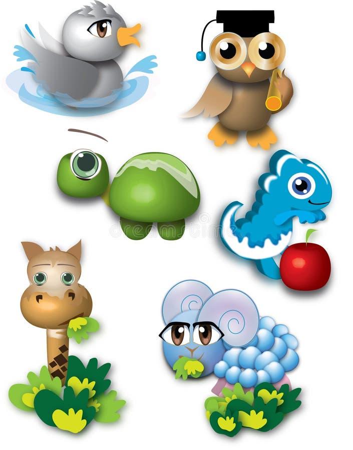 животные 3d иллюстрация штока