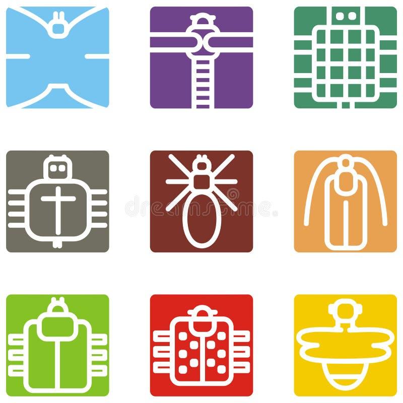 животный квадрат икон бесплатная иллюстрация