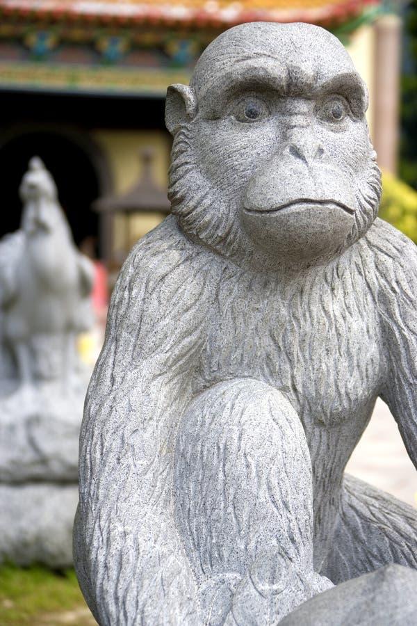 животный китайский зодиак статуи обезьяны стоковое изображение