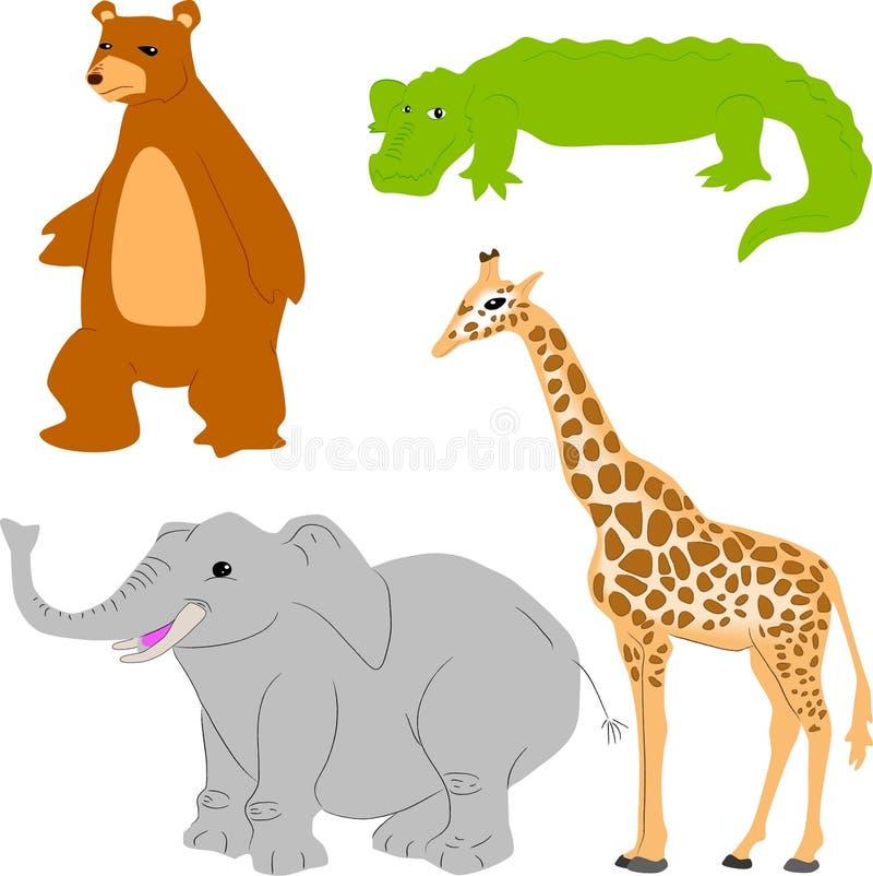 животный милый комплект бесплатная иллюстрация