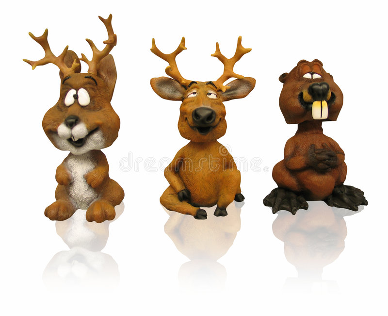 животный путь 3 figurines зажима иллюстрация штока